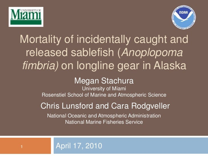 Sablefish Mail: Mortality Of Incidentally Caught And Released Sablefish