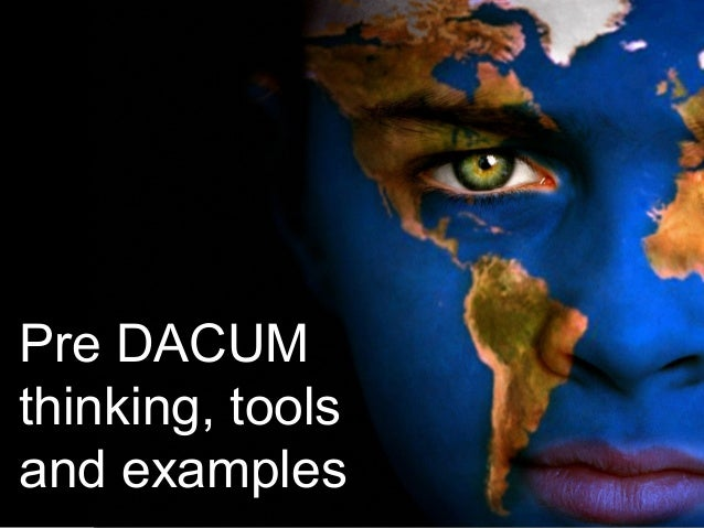 Pre DACUM thinking, tools and examples