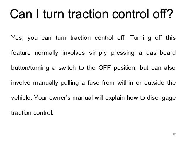 how to turn off electronic stability control