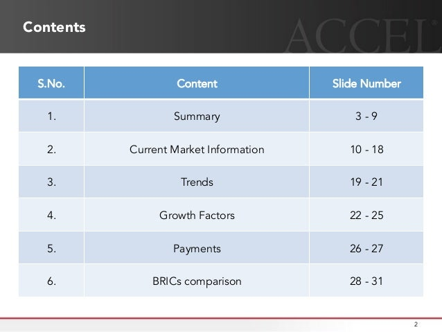 How is the E-Commerce industry in India shaping up ? Accel Partners India provides some key insights into how the industry is transforming itself Slide 2