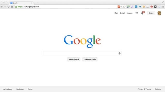 Picture of Google Search Page