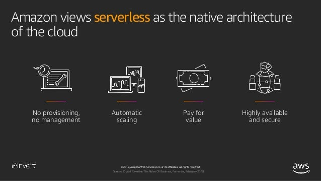Accelerate Innovation and Maximize Business Value with Serverless Applications (SRV212-R1) - AWS re:Invent 2018 Slide 7