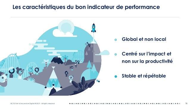 OCTO Part of Accenture Digital © 2019 - All rights reserved 16 Les caractéristiques du bon indicateur de performance ๏ Glo...