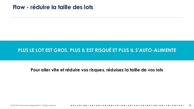 OCTO Part of Accenture Digital © 2019 - All rights reserved 26 Flow - réduire la taille des lots PLUS LE LOT EST GROS, PLU...