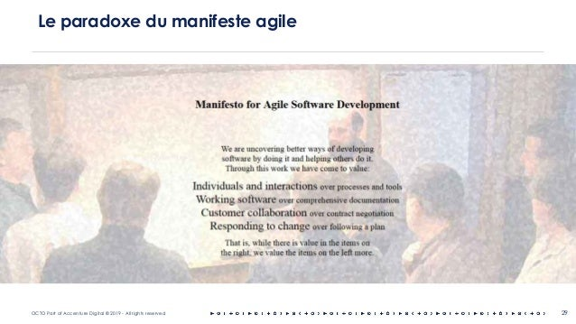 OCTO Part of Accenture Digital © 2019 - All rights reserved 29 Le paradoxe du manifeste agile