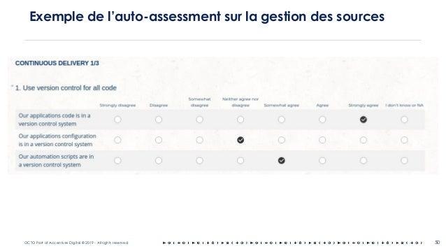 OCTO Part of Accenture Digital © 2019 - All rights reserved 50 Exemple de l'auto-assessment sur la gestion des sources