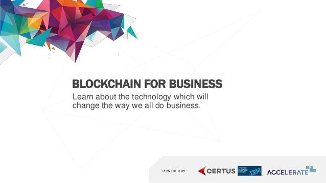 Technology Management Image: Accelerate Blockchain Slideshare