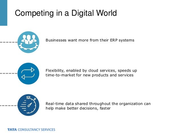 Competing in a Digital World Businesses want more from their ERP systems Flexibility, enabled by cloud services, speeds up...