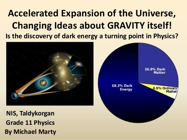 Accelerated Expansion of the Universe, Changing Ideas about GRAVITY itself! Is the discovery of dark energy a turning poin...