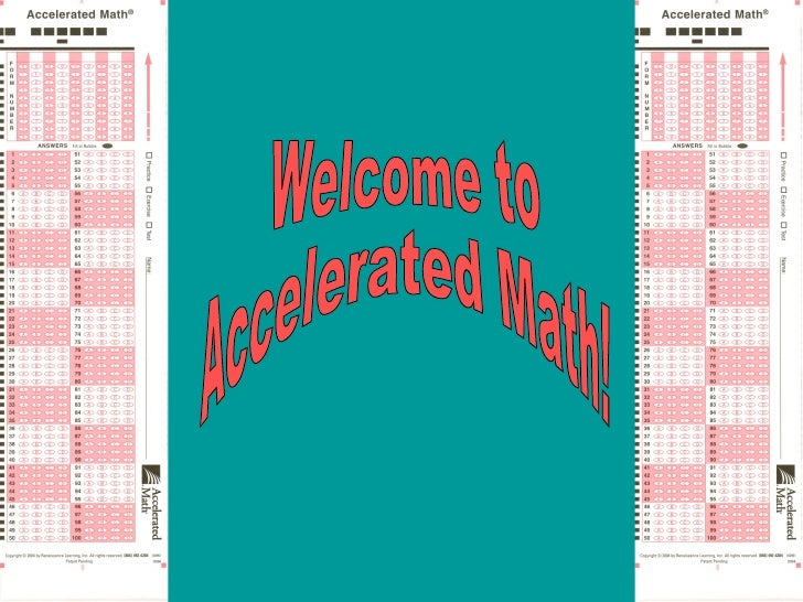 Welcome to  Accelerated Math!