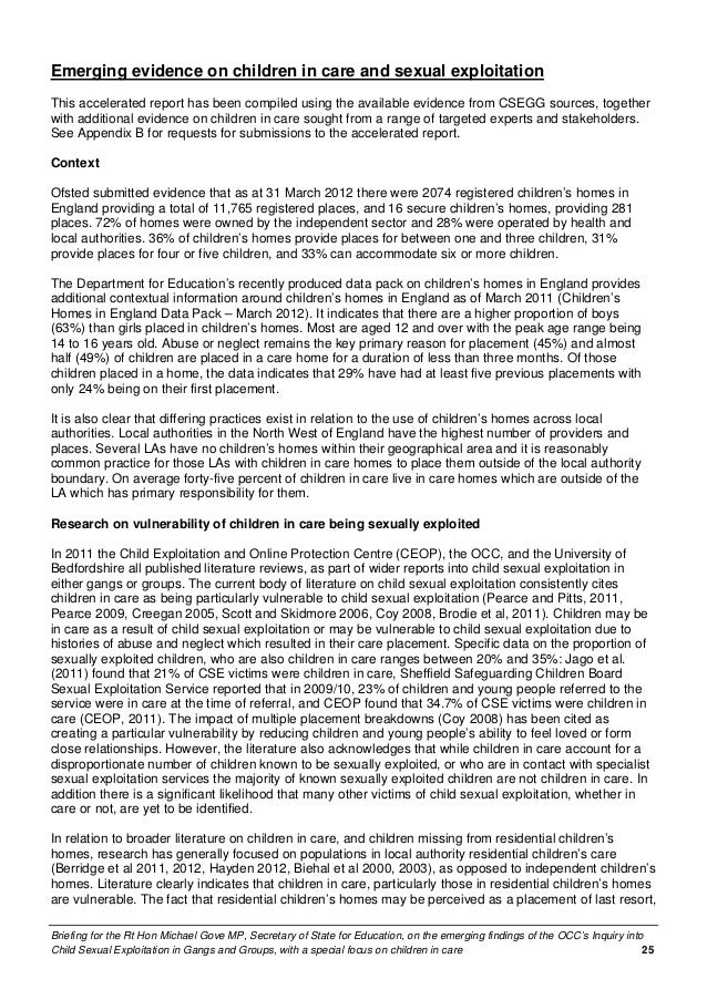 accelerated report on the emerging findings of the occ s inquiry into 25