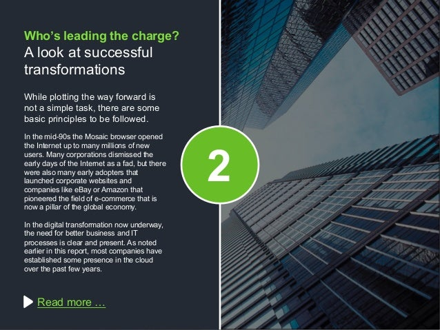 Copyright © 2015 Dimension Data While plotting the way forward is not a simple task, there are some basic principles to be...