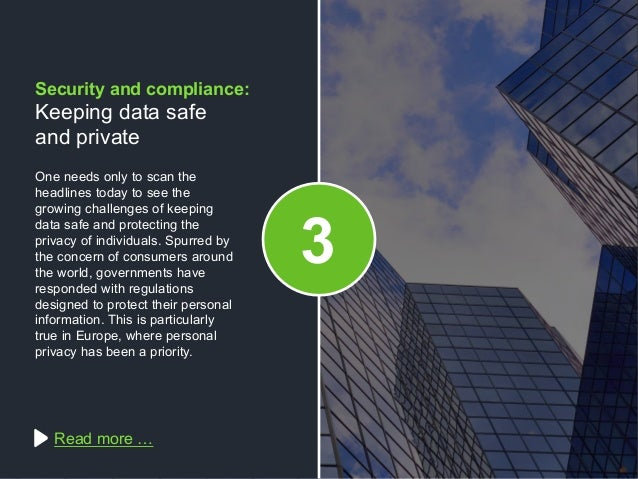 Copyright © 2015 Dimension Data One needs only to scan the headlines today to see the growing challenges of keeping data s...