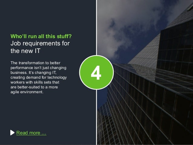 Copyright © 2015 Dimension Data The transformation to better performance isn't just changing business. It's changing IT, c...