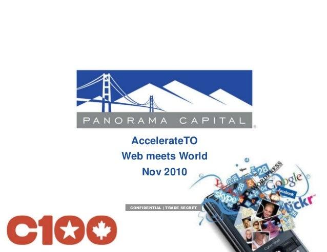 AccelerateTO Web meets World Nov 2010 CONFIDENTIAL | TRADE SECRET