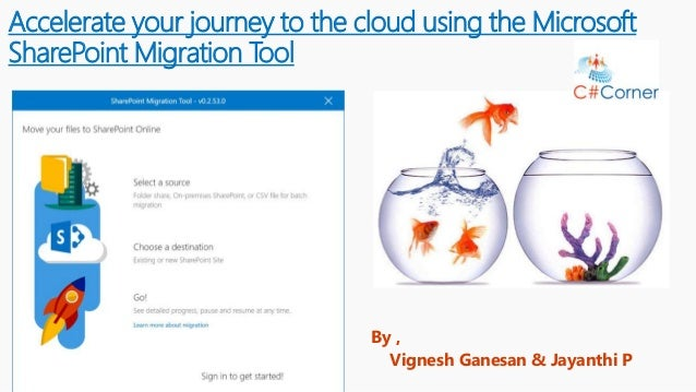 Accelerate your journey to the cloud using the Microsoft SharePoint Migration Tool By , Vignesh Ganesan & Jayanthi P