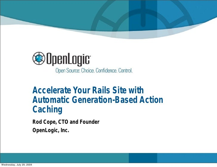 Accelerate Your Rails Site with                            Automatic Generation-Based Action                            Ca...