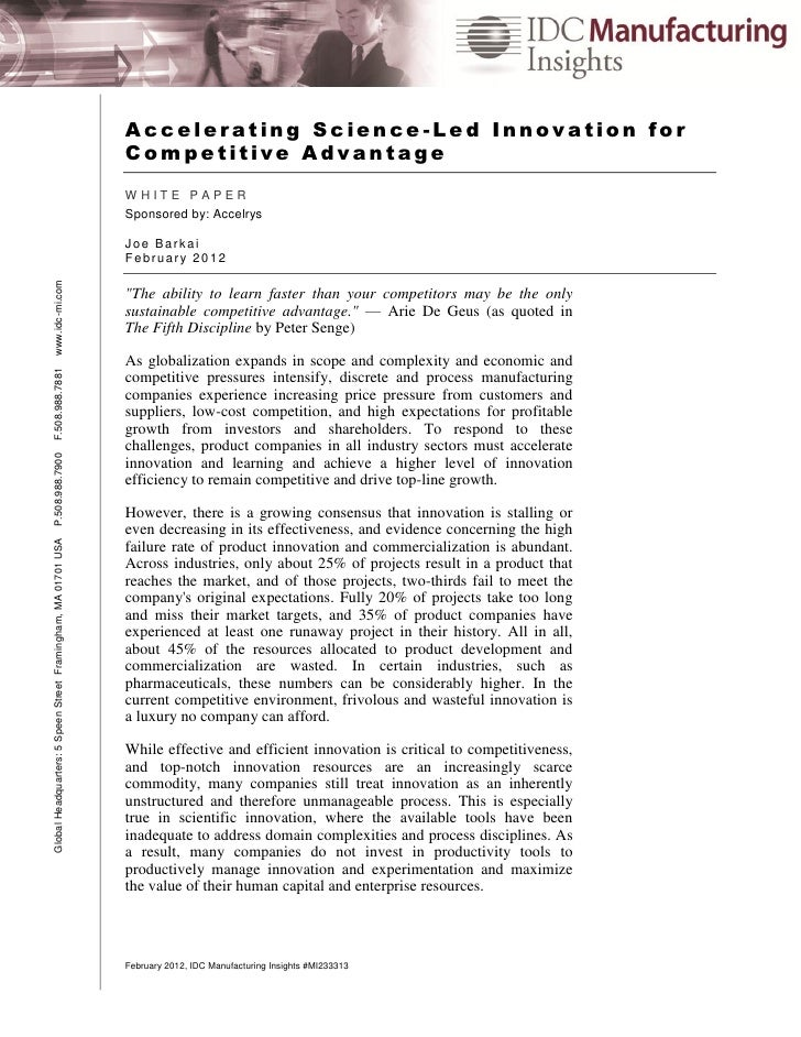 Accelerating Science-Led Innovation for                                                               Competitive Advantag...