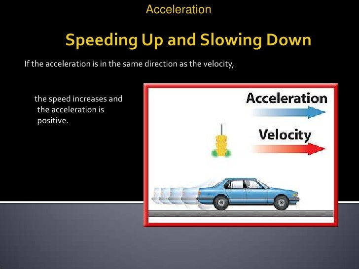 can anything have an acceleration in the opposite direction to its velocity essay Physics essay on forces and the this means that f1 and f2 are equal in magnitude and opposite in direction anything else to add to my physics essay.