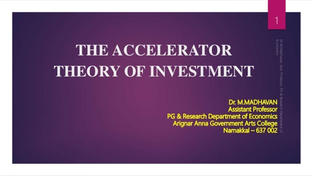 Accelerator theory of investment economics business ideas india small investment 2021 tax