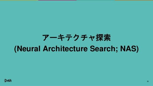 25 アーキテクチャ探索 (Neural Architecture Search; NAS)