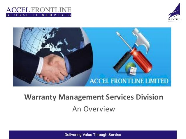 Warranty Management Services Division            An Overview