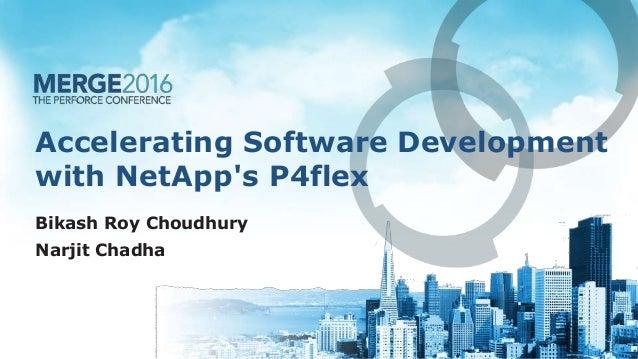 Accelerating Software Development with NetApp's P4flex Bikash Roy Choudhury Narjit Chadha
