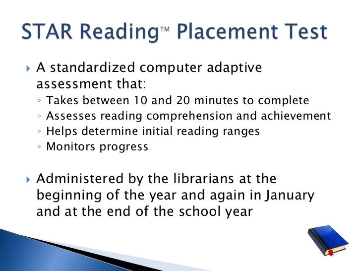 What is the purpose of an accelerated reading test?