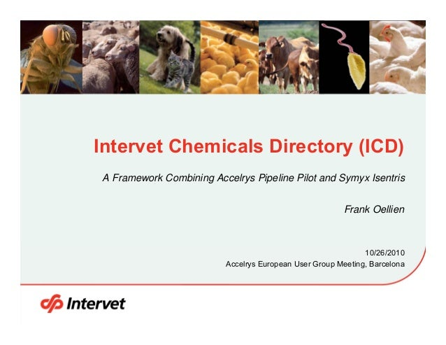 Intervet Chemicals Directory (ICD) A Framework Combining Accelrys Pipeline Pilot and Symyx Isentris Frank Oellien  10/26/2...