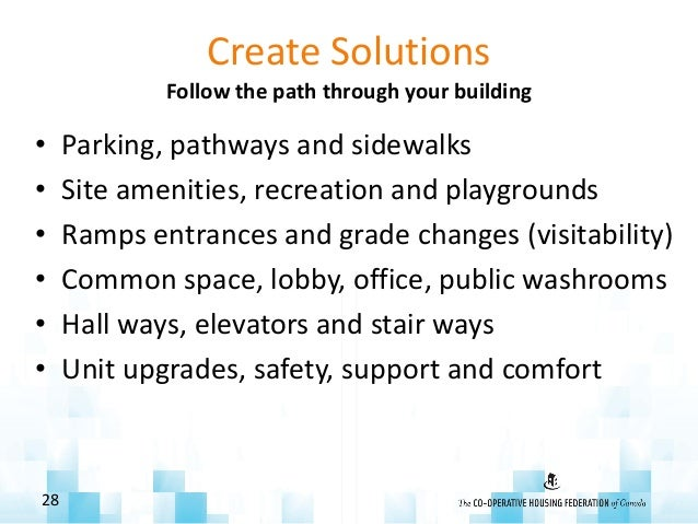 Create Solutions Follow the path through your building • Parking, pathways and sidewalks • Site amenities, recreation and ...