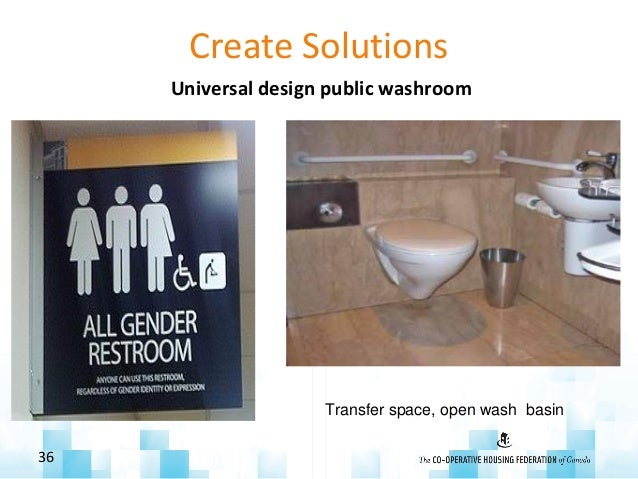 Create Solutions Universal design public washroom 36 Transfer space, open wash basin