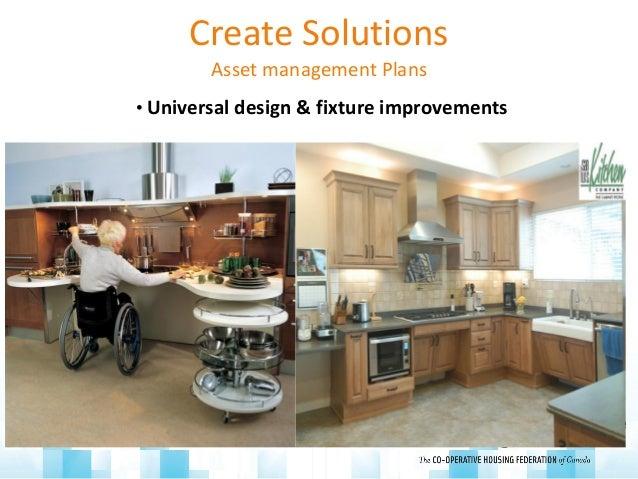 Create Solutions Asset management Plans • Universal design & fixture improvements Low flow, universal design Energy star b...
