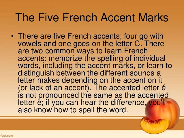 how to put in an accent mark french