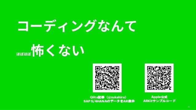 49 Apple ARKit Qiita @zukahira SAP S/4HANA AR