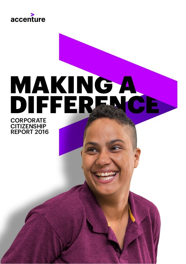DIFFERENCECORPORATE CITIZENSHIP REPORT 2016 MAKING A