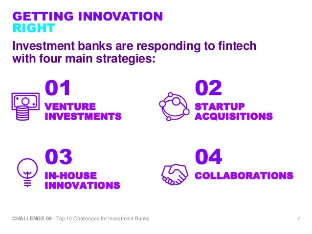 Challenge Getting Innovation Right Top Challenges For Investme - Top investment banks