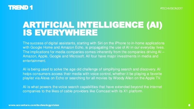 5www.accenture.com/technologyvision ARTIFICIAL INTELLIGENCE (AI) IS EVERYWHERE The success of digital assistants, starting...