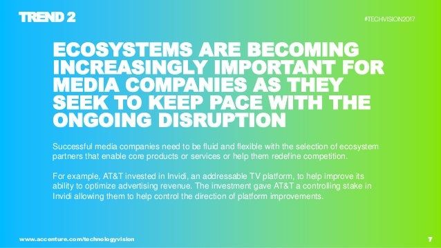 7www.accenture.com/technologyvision ECOSYSTEMS ARE BECOMING INCREASINGLY IMPORTANT FOR MEDIA COMPANIES AS THEY SEEK TO KEE...