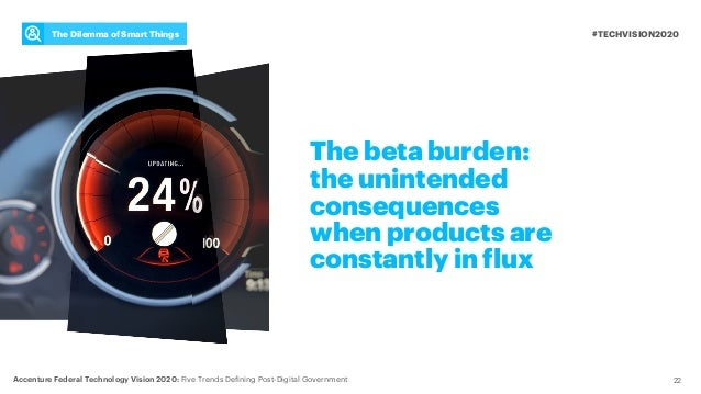 The beta burden: the unintended consequences when products are constantly in flux #TECHVISION2020 Accenture Federal Techno...
