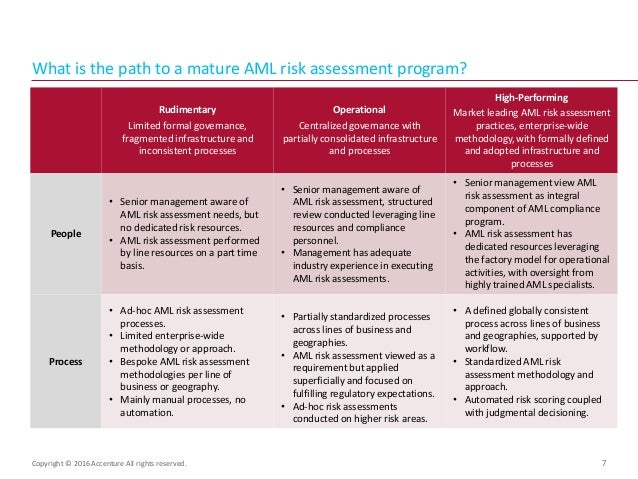 AntiMoney Laundering Aml Risk Assessment Process