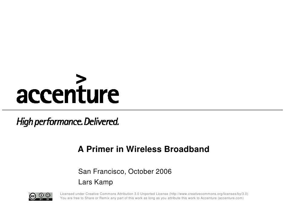 Accenture - A Primer in Wireless Broadband