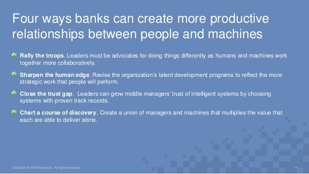 Rally the troops. Leaders must be advocates for doing things differently as humans and machines work together more collabo...