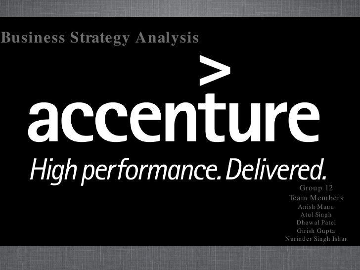 Business Strategy Analysis                                      Grou p 12                               Team Mem bers     ...