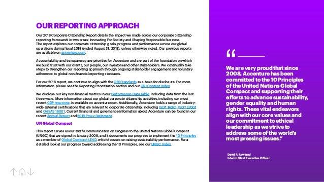 Accenture Corporate Citizenship Report 2018