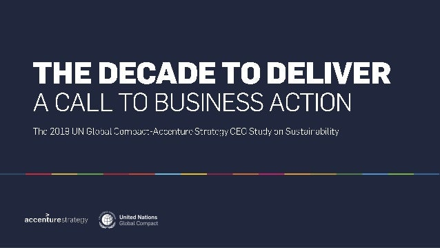 The Decade to Deliver: A Call to Business Action