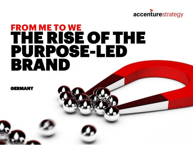 THE RISE OF THE PURPOSE-LED BRAND GERMANY FROM ME TO WE
