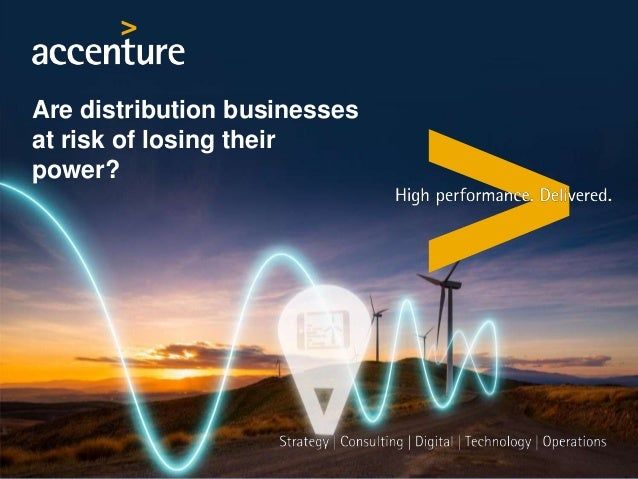 Are distribution businesses at risk of losing their power?