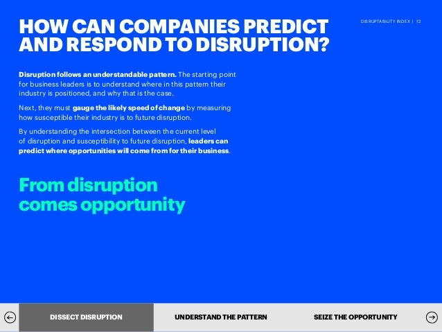 Disruption Need Not Be An Enigma