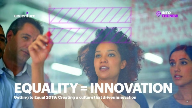 Getting to Equal 2019: Creating a culture that drives innovation EQUALITY=INNOVATION