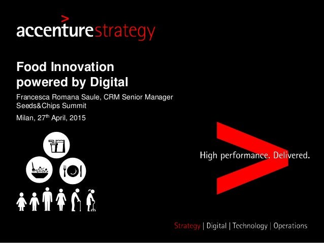 Food Innovation powered by Digital Francesca Romana Saule, CRM Senior Manager Seeds&Chips Summit Milan, 27th April, 2015